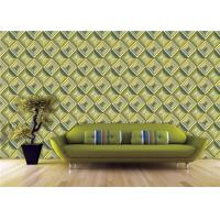 Buy cheap Geometric Style 3D PVC Wallpaper For Living Room , Water Based Ink from wholesalers