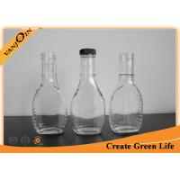 Buy cheap Eco-friendly Food Grade Glass Sauce Bottles for Powder Drugs / Spicy 8oz With Black Plastic Lid from wholesalers