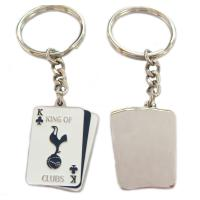 Buy cheap Metal Iron Material Nickel Plated Metal Keychains with Lacquered Color from wholesalers
