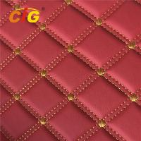 High Quality Car Seat Car Floor Embroidery PVC leather with High Density Foam