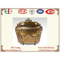 Brass Jar With Delicate Decorative Pattern EB9063