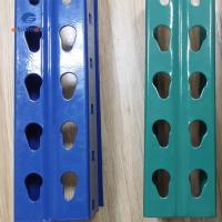 Buy cheap Selective Warehouse Teardrop Pallet Rack  Systems , Red / Blue Industrial Pallet Racking Systems from wholesalers