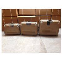 Buy cheap 4 Wheels Travel Cross 3 Piece Suitcase Set Waterproof ABS Material With Oxford Cloth Lining from wholesalers