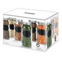 Buy cheap 6 pieces lovely spice jars with chalkboard for your kitchen,colorful your life product