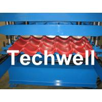 Buy cheap PLC Control Step Tile Roll Forming Machine for Glazed Tile , Roof Tile , Metal Roof Tile from wholesalers