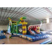 Buy cheap White Shark Inflatable Obstacle Courses Silk Printing 14 X 4m With Palm Trees from wholesalers