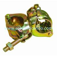 Buy cheap 110° scaffold pressed electro galvanized double coupler clamp Japanese standard with good performance from wholesalers