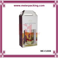 Buy cheap corrugated cardboard wine box/Beautiful Design cardboard paper wine carrier box ME-CUR008 from wholesalers