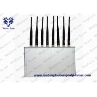Buy cheap 8 Antennas Mobile Phone Wifi Jammer 250 * 150 * 50mm With Cooling Fan product