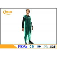 Buy cheap Breathable Disposable Plastic Aprons PE Smock / Overall Full Body Protection from wholesalers