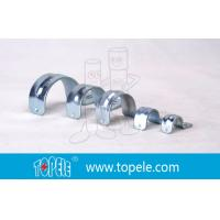 Galvanized 1 Inch EMT Conduit Fittings , One Hole EMT Conduit Strap
