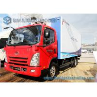Buy cheap FAW 5000KG Refrigerated Van Truck Red Sea Food Transport Truck from wholesalers