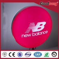 Buy cheap outdoor round vacuum thermoformed advertising led light box/ silk screen printing led light box product