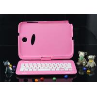 Buy cheap Wireless Samsung N5100 Bluetooth Keyboard Pink Aluminum Keyboard product