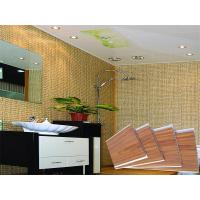 China Waterproof Wooden Stamping Plastic PVC Wall Panels Toliet CE SGS on sale