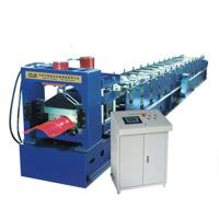 Buy cheap Colour Sheet Big Round Ridge Capping Cold Roll Forming Machine Panasonic PLC Control High Speed product