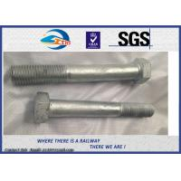 Buy cheap Railway High Strength Hex Bolts Grade 10.9 M24 With HDG Coating from wholesalers