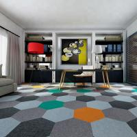 Buy cheap wholesale luxury hotel hallway hexagon green nylon modular carpet tile from wholesalers