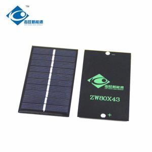 Buy cheap 5V 10 Battery Residential Solar Power Panels ZW-8043 cheapest 0.5W solar panel photovoltaic product