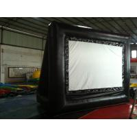 Buy cheap Rent Black Outdoor PVC Inflatable Outdoor Movie Screen For Advertising from wholesalers