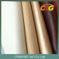 Buy cheap 1.0MM Thickness Flocking And Colorful PU Synthetic Leather For Furniture product