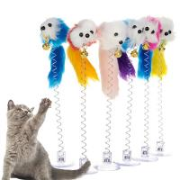 Buy cheap Cute Mouse Self Play Cat Toys Lightweight Funny With Bottom Sucker / Spring from wholesalers