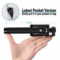 Buy cheap Bluetooth aluminum selfie camera monopod with foldable clip remote shutter button from wholesalers