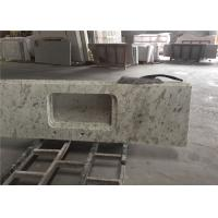 Buy cheap White Granite Prefab Kitchen Countertops With Polished Eased Edge Customized Size from wholesalers