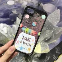 Buy cheap Hard PC Korea Style Flamingo Candy Cans Point Glitter Quicksand Black Cell Phone Case Cover For iPhone 7 6s Plus from wholesalers