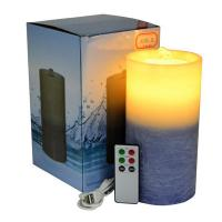 Buy cheap Gradient Color Flameless Candle Fountain With Lithium Battery from wholesalers