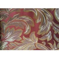 Buy cheap Red Floral Pattern Floral Jacquard Fabric Polyester Sofa Cover from wholesalers