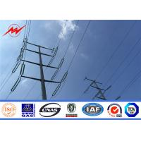 Buy cheap Q235 Electric Pole Steel Electric Power Poles with Cross Arm For Power Accessories from wholesalers