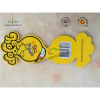 Buy cheap Personalized Yellow Octopus Swing Tags Glossy Varnishing Finished 2 Side from wholesalers