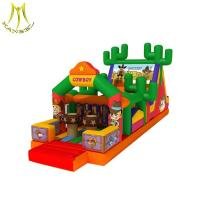 Buy cheap Hansel  Interactive new design long inflatable obstacle for kids and adults from wholesalers