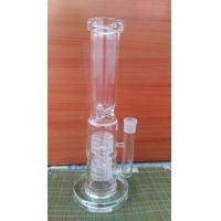 Buy cheap High-quality Cheap Popular glass water bongs 7mm thick 2 barrel percglass water pipe wp531 from wholesalers