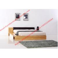 Buy cheap Modern bedroom furniture by melamine MDF storage Bed and leather upholstery headboard product
