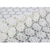 Buy cheap Cotton Dying Lace Fabric Guipure French Venice Lace Wedding Dress Fabric Openwork from wholesalers