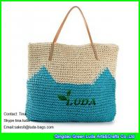 Buy cheap LUDA cute pattern beach bag crochetting paper straw beach bag uk from wholesalers
