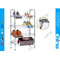 Buy cheap Chrome Plated Adjustable Wire Shelving Kitchen Cart 800 lbs for Shoes from wholesalers