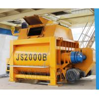 Buy cheap High Technology Twin Shaft JS2000 Stationary Concrete Mixer 2000L Concrete Mixer product