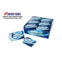 Buy cheap Peppermint Cool Fresh Sugar Free Lozenges For Throat Slide Tin Box from wholesalers
