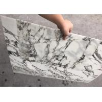 Buy cheap White With Black Veins Ultra Thin Stone Marble Tile For Decoration from wholesalers
