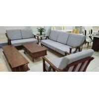Buy cheap Straight Texture Solid Wood Tv Cabinet , Uniform Color Sofa Coffee Table from wholesalers