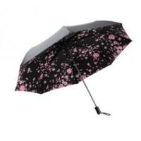 Buy cheap Strong Windproof Lightweight Folding Umbrella Black Color Offer UV Protection product