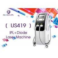 Buy cheap 2 Handles Diode Hair Removal Laser Machine With White / Black Shell 10.4 Inch Screen from wholesalers