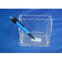 Buy cheap Hard Clear 3mm Acrylic Stationery Holder LightweightWith Notes Box from wholesalers
