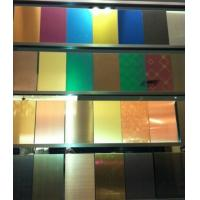 Buy cheap SUS316L Etching Colored Stainless Steel Sheets ,PVD Decoration Sheets 1250mm 1500mm Rose gold, Brown, Bronze, Black product
