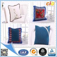 Buy cheap Red / White / Blue Plain Modern Luxury Decorative Cushion Covers for Sofa , Car or Chairs from wholesalers