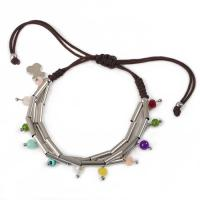 Buy cheap Adjustable Stainless Steel Handmade Jewelry Stone Charm Rope Bracelet from wholesalers