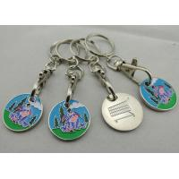 Buy cheap Customized Iron, Copper, Zinc Alloy Animal Trolley Coin, Shopping Trolley Token Keyring from wholesalers